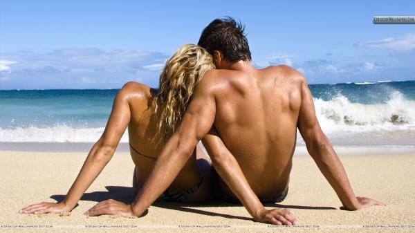 Swingers på stranden